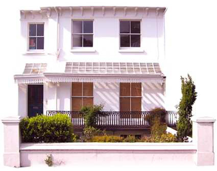 House Front decorated by Sussex Decorating